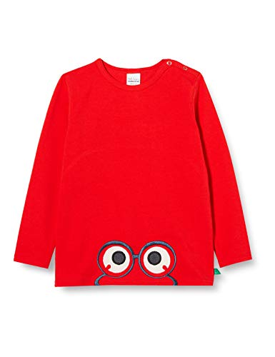 Fred'S World By Green Cotton Alfa Peep T Baby T-Shirt, Rouge signalisation, 68 Bébé Fille