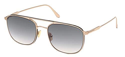 Gafas de Sol Tom Ford JAKE FT 0827 Shiny Rose Gold/Grey Shaded 56/20/145 hombre