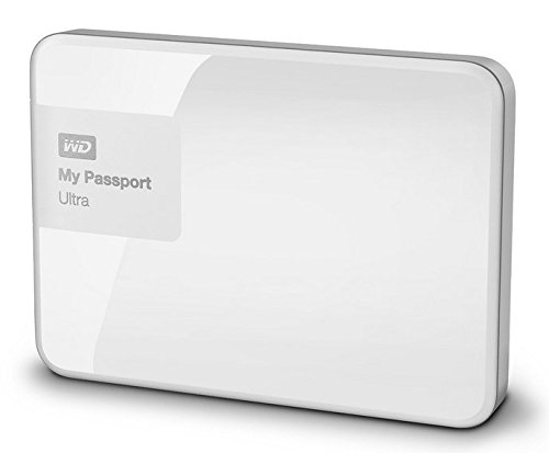 Western Digital My Passport Ultra 3 TB Externe Festplatte, brillantweiß