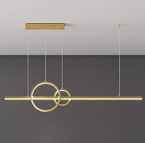 42W Lampada a Sospensione LED Dimmerabile Moderno Tavolo da Pranzo Lampadario Lungo Striscia...