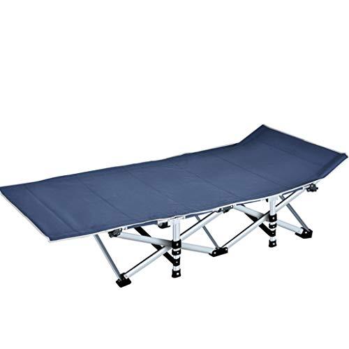 LIYONG Camping en Plein air lit Pliant Portable Chaise de Jeu de Loisirs Pause déjeuner Chaise Longue Pliante (Color : Navy Blue)