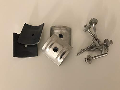 Set aus je 100 Stück Kalotten & Spengler-Schrauben TX20 EPDM-Dichtscheiben 4,5x45mm für Trapez-Sinus Profil 76/18 Wellplatten PMMA Acrylglas