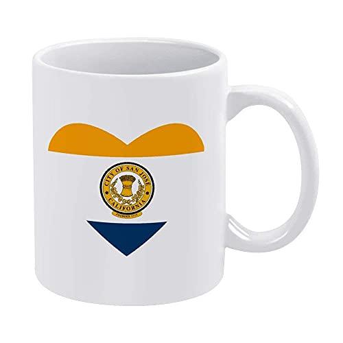 Eastlif Flagge von San Jos und uml; und brvbar; Herz-Becher Kaffeetasse bietet Platz