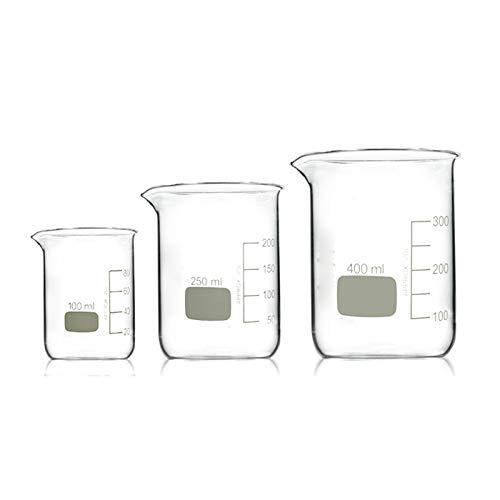 LBWT Schülerlabor Verdicken Glasbecher, 100 Ml / 250 Ml / 400 Ml Messtechnik, Chemie Experiment Ausrüstung, Lehrmittel, Hohe Temperaturbeständigkeit