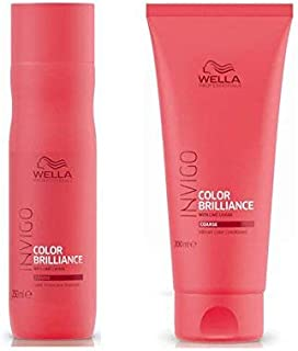 Wella Brilliance Protection Coarse Shampoo 250 ml and Vibrant Conditioner 200 ml