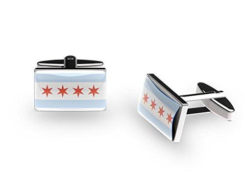 Chicago – US City – Boutons de manchette (avec boîte cadeau)