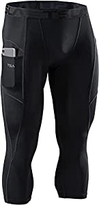 TSLA Men's 3/4 Compression and Running ,Workout Shorts,