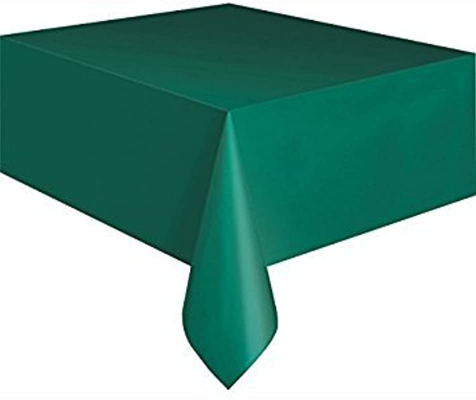 PACK OF 4 Disposable GREEN Plastic Tablecloths Table Covers 54 X 108 Inches Each