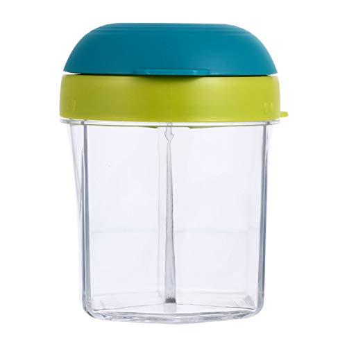 TOYANDONA Baby Formula Dispenser Milk Powder Container Portable Snack Storage Box Non-Spill Milk Powder Travel Holder for Outdoor Home Green