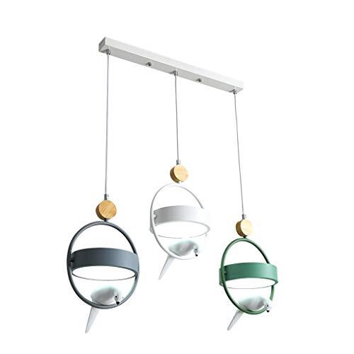 DYXYH Restaurante nórdico LED LED Cafetería Moderna Leche Tea Tea Tienda Barra Creativa Pájaro Colgante Lámpara Comedor Lámpara