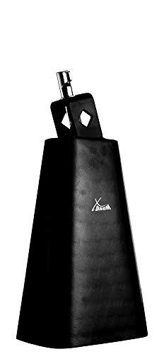"""XDrum HCB-6 Cowbell - 6"""" Kuhglocke mit 22 cm Länge für Drums und Percussion - Glocke aus Stahl - An Schlagzeug montierbar - Schwarz"""