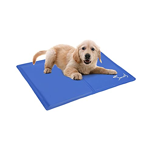 PETTOM Dog Cooling Mat Medium 65x50 cm, Non-Toxic Gel Self Cooling Pad For Pet Dog Cat, Indoor and outdoor using in Pet bed, Sofa, Car Seat, Beach, Great for Dogs Cats in Hot Summer