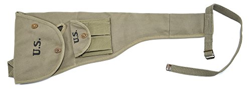 World War Supply M1 Carbine Canvas Paratrooper Jump Case with Magazine Pouch Marked JT&L 1944