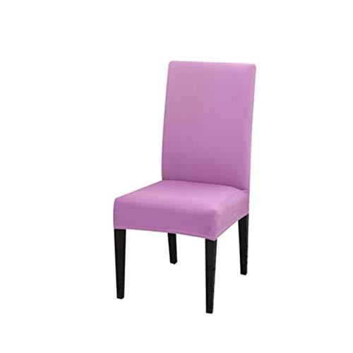 MJS Coperchio per Sedia in Tessuto per Sala da Pranzo Sedie da Pranzo Coprisesseggio Alto Soggiorno Sedia da Poltrona per sedie per Cucina per Divano e poltrone (Colore : Light Purple, Taglia : 1pcs)