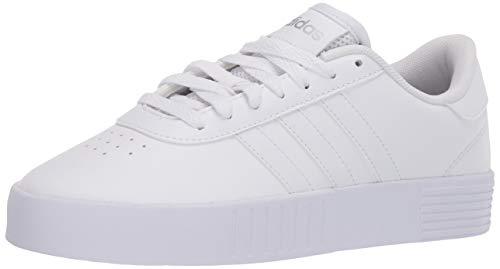 adidas womens Court Bold Skate Shoe, White/White/Silver, 7
