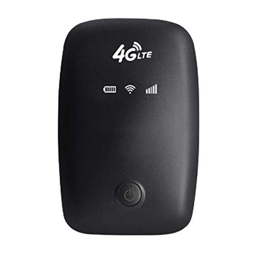 Gfhrisyty 4G Router 4G LTE MiFi Portable MiFi 150Mbps MóVil WiFi Hotspot 2100MAh con Ranura para Tarjeta SIM (Negro)