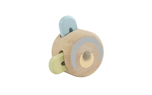 PlanToys Wooden Peek-a-Boo Roller Early Learning and Development Baby Toy (5252)   Pastel Color Collection   Sustainably Made from Rubberwood and Non-Toxic Paints and Dyes