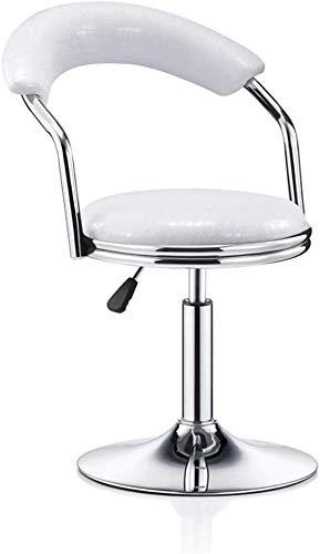 YLCJ barstoel draaistoel hoge stoel minimalistisch modern terug op de ontvangsttafel starthulp barkruk slaapkamerkruk (kleur: zwart, maat: 45-55 cm) 45-55CM Wit