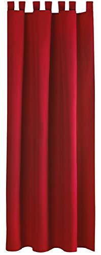 Bestlivings Blickdichte Rote Gardine mit Schlaufen in 140x175 cm (BxL), in vielen Größen und Farben