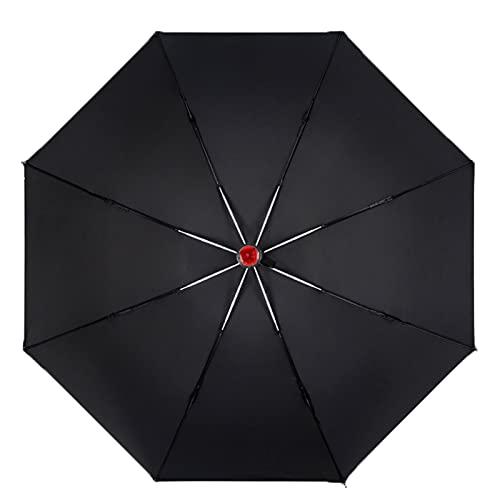 NLASHFO Automatischer Regenschirm Auto Männlich Winddicht Weiblich Regendicht Sonnencreme Dual-Use-Klappschirm