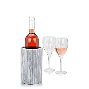 Modern Innovations Wine Chiller Elegant Grey Marble Wine Bottle Cooler Keeps...