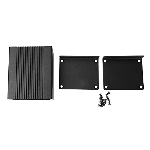 LANTRO JS - Caja de instrumentos de placa de circuito impreso Caja de protección electrónica de carcasa de aleación de aluminio de tipo dividido DIY 1.6 x 2 x 2.4in
