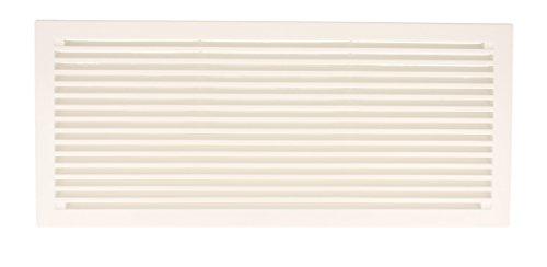 Lüftungsgitter Türlüftung aus Kunststoff in verschiedenen Farben - 290 x 125 mm (weiß)