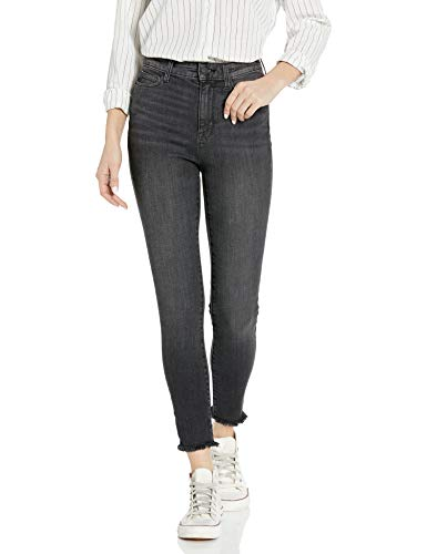 Amazon Brand - Goodthreads Women's High-Rise Skinny Jean, Cropped Fray Vintage Black, 28 Regular