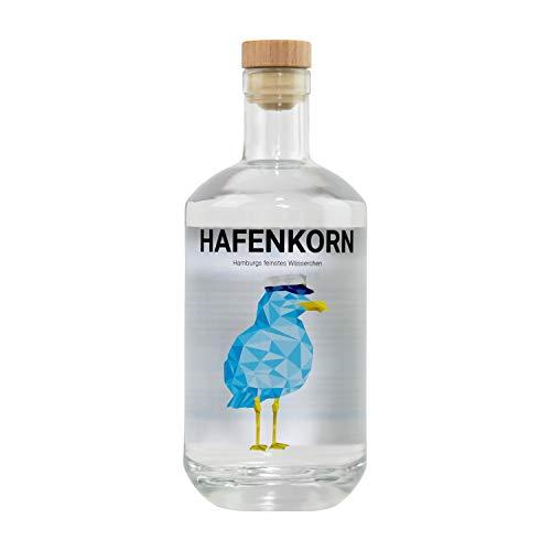HAFENKORN, klarer Korn Schnaps aus 100% norddeutschem Weizen, frischer Hamburger Kornbrand, pur oder für Kornmischung, Hamburg Geschenk, 1 x 0,7 L