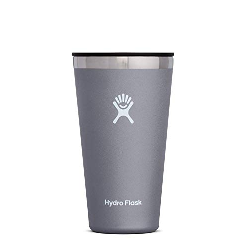 Hydro Flask Tumbler Cup - Stainless Steel & Vacuum Insulated - Press-In Lid - 16 oz, Graphite