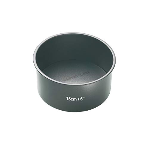 Kitchen Craft Master Class Molde con Base Suelta, Acero, Negro, 15 cm
