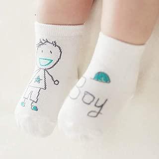Socks 3 Pairs Newborn Socks Cartoon 100% Cotton Baby Socks, Size:12-14CM(Boy) Outdoor & Sports (Color : Boy)