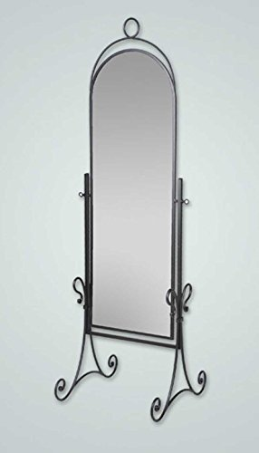 DECORACIÓN BELTRÁN Grands miroirs sur pied en fer forgé: modèle ELENA. 60x185x60