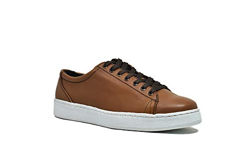 VICEVERSA Men's Casual Leather Sneakers - Honey, Honey, 7 US