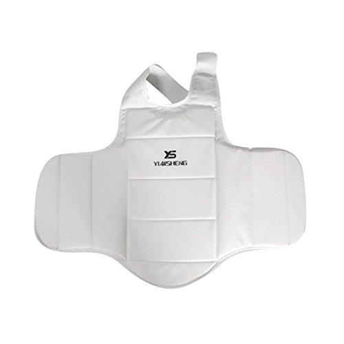 Unbekannt Körperschutz Boxen Kampfsport Taekwondo Körperschutzweste Kampfwesten Bauchschutz für Herren Damen XS-XL - XS
