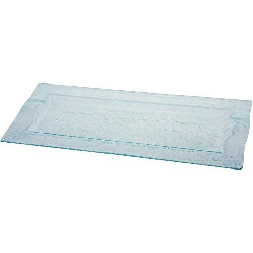 Glas-Tablett zum Servieren von Teller, Glas, rechteckig