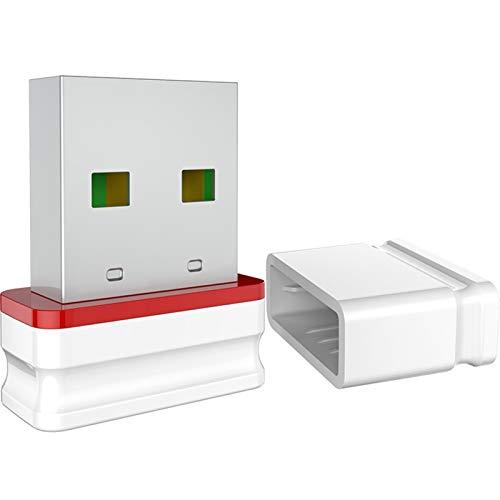 Adaptador WiFi Mini Tarjeta de Red inalámbrica 150Mbps Ap Función 2.4G Receptor de PC Windows WiFi Dongle Plug and Play (Color : A)