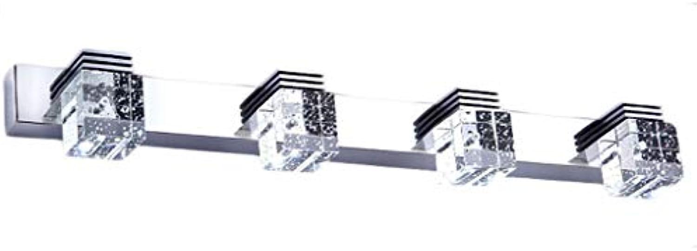 LCTCJD Verstellbarer LED-Spiegel, DREI-Farben-Dimming-Klassiker-Spiegel-Kabinett-Badezimmer-Badezimmer-Spiegel 65cm lang energiesparend (Farbe   Weies Licht, gre   Four Heads)