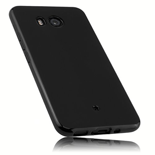 mumbi Hülle kompatibel mit HTC U11 Handy Hülle Handyhülle, schwarz