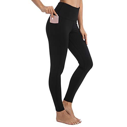 AY Donna Fitness Leggings con Tasche Laterali, Donna Allenamento Opaco Vita Alta Yoga Spandex Palestra Leggins Sportivi Pantaloni.