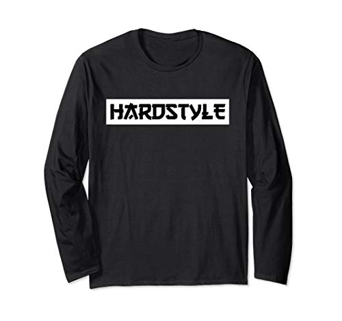 Hardstyle Rawstyle Schriftzug Merchandise Rave Festival Langarmshirt