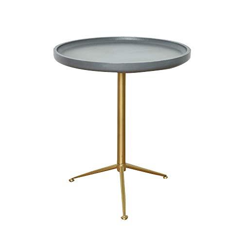 Axdwfd Bureau d'ordinateur autour du canapé table d'appoint mini table basse imitation ciment couleur 2 tailles (49 * 49 * 56cm, 39.6 * 39.6 * 46cm) (taille : 39 * 46cm)