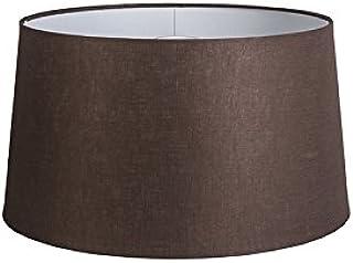 QAZQA Lino Pantalla lino marrón 45/25, Redonda/Cónica Pantalla lámpara colgante,Pantalla lámpara de pie