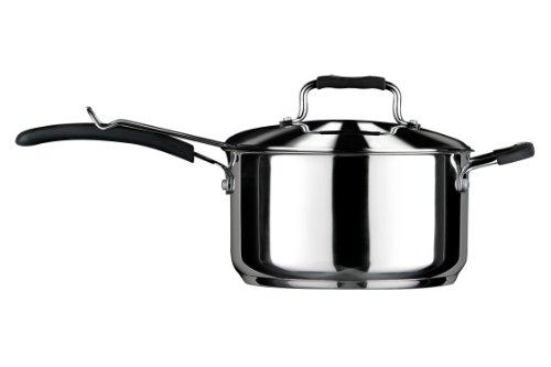Premier Housewares Chip Pan Deep Fat Fryer Chip Fryer Deep Frying Pan Fryer Basket, Small Fryer Stainless Steel Chip Pan Fryer H23xW23xD12