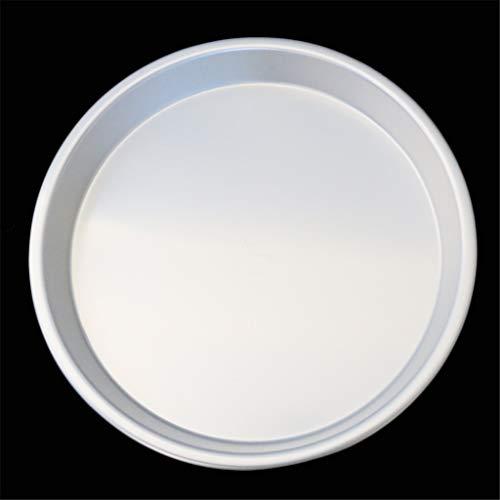Backform Aus Aluminium Pan 9-Zoll-Brot-Kuchen Pudding Schokolade Pizza Tray Pfannkuchen Net Gebäck Bakeware Startseite Liebhaber Geschenke,Silber