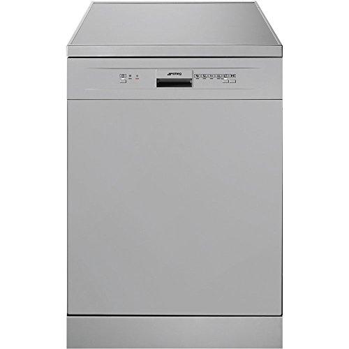 Smeg lvs112sit autonome 12places A + Spülmaschine–Geschirrspülmaschinen (autonome, silber, Full Size (60cm), silber, Knöpfe, Edelstahl)