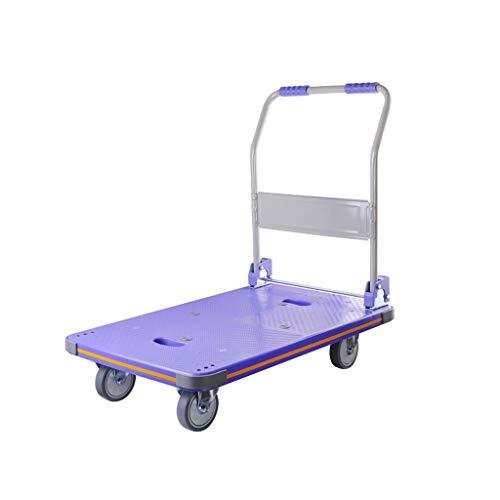 Carro de camión plataforma ALF Carretilla de cama plana carretilla elevadora camioneta silenciosa carretilla elevadora plegable Carro industrial pesado (Size : B)