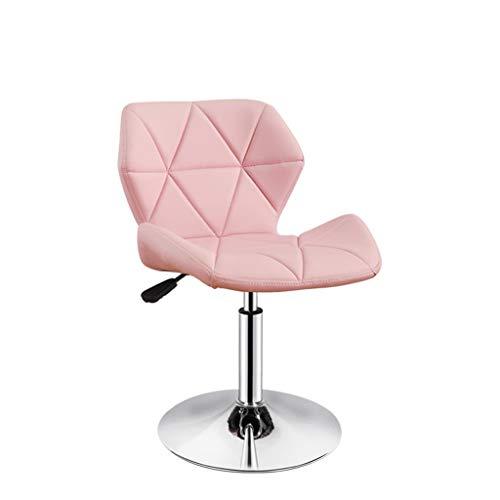 npcs Silla giratoria para videojuegos, silla giratoria minimalista, taburete de bar, silla ajustable, silla para casa, silla giratoria, sillas de escritorio (color: rosa, tamaño: B)