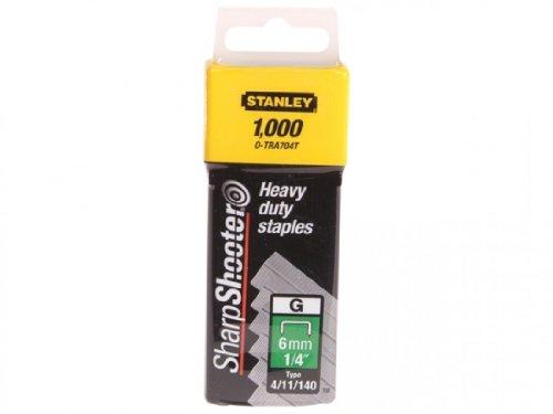 Stanley Agrafes résistantes 6 mm (1000) 0-TRA704T