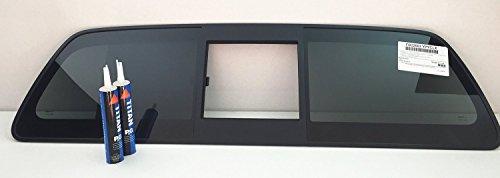 OEM Sliding Back Window Glass Back Slider Compatible with Nissan Frontier Pickup 2005-2020 Models/Suzuki Equator 2009-2012 Models